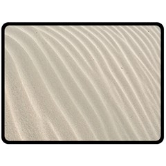 Sand Pattern Wave Texture Fleece Blanket (large)  by Simbadda
