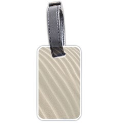Sand Pattern Wave Texture Luggage Tags (one Side)  by Simbadda