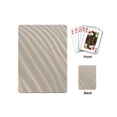 Sand Pattern Wave Texture Playing Cards (mini)  by Simbadda
