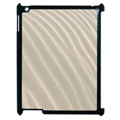 Sand Pattern Wave Texture Apple Ipad 2 Case (black) by Simbadda