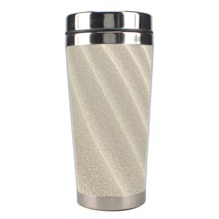 Sand Pattern Wave Texture Stainless Steel Travel Tumblers by Simbadda