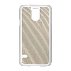 Sand Pattern Wave Texture Samsung Galaxy S5 Case (white) by Simbadda