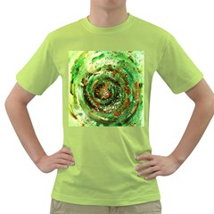 Canvas Acrylic Design Color Green T Shirt by Simbadda