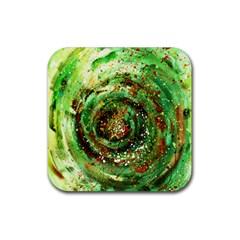 Canvas Acrylic Design Color Rubber Coaster (square)  by Simbadda