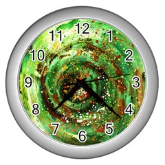 Canvas Acrylic Design Color Wall Clocks (silver)  by Simbadda