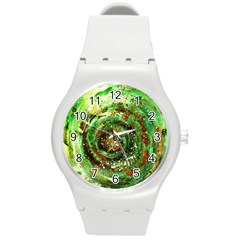Canvas Acrylic Design Color Round Plastic Sport Watch (m) by Simbadda