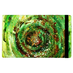 Canvas Acrylic Design Color Apple Ipad 2 Flip Case by Simbadda