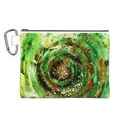 Canvas Acrylic Design Color Canvas Cosmetic Bag (l) by Simbadda