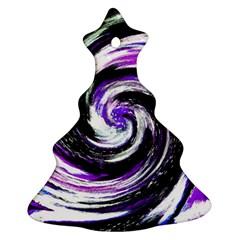 Canvas Acrylic Digital Design Ornament (christmas Tree)  by Simbadda