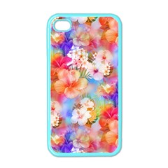 Tropical Hawaiian Garden  Apple iPhone 4 Case (Color)