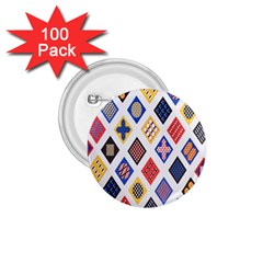 Plaid Triangle Sign Color Rainbow 1 75  Buttons (100 Pack)  by Alisyart