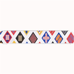 Plaid Triangle Sign Color Rainbow Small Bar Mats by Alisyart
