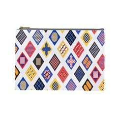 Plaid Triangle Sign Color Rainbow Cosmetic Bag (large)  by Alisyart