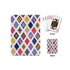 Plaid Triangle Sign Color Rainbow Playing Cards (mini)  by Alisyart