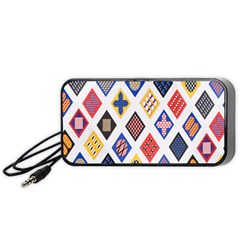Plaid Triangle Sign Color Rainbow Portable Speaker (black) by Alisyart