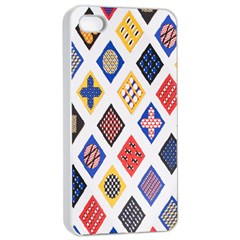 Plaid Triangle Sign Color Rainbow Apple Iphone 4/4s Seamless Case (white) by Alisyart