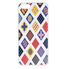 Plaid Triangle Sign Color Rainbow Apple Iphone 5 Seamless Case (white) by Alisyart