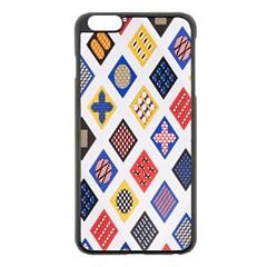 Plaid Triangle Sign Color Rainbow Apple Iphone 6 Plus/6s Plus Black Enamel Case by Alisyart