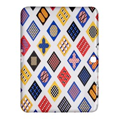 Plaid Triangle Sign Color Rainbow Samsung Galaxy Tab 4 (10 1 ) Hardshell Case  by Alisyart