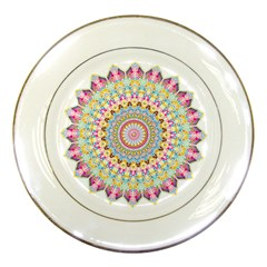 Kaleidoscope Star Love Flower Color Rainbow Porcelain Plates by Alisyart