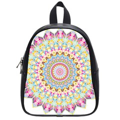 Kaleidoscope Star Love Flower Color Rainbow School Bags (small)  by Alisyart