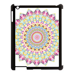Kaleidoscope Star Love Flower Color Rainbow Apple Ipad 3/4 Case (black) by Alisyart
