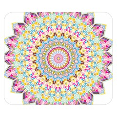 Kaleidoscope Star Love Flower Color Rainbow Double Sided Flano Blanket (small)  by Alisyart