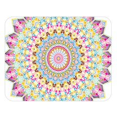 Kaleidoscope Star Love Flower Color Rainbow Double Sided Flano Blanket (large)  by Alisyart
