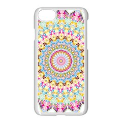 Kaleidoscope Star Love Flower Color Rainbow Apple Iphone 7 Seamless Case (white) by Alisyart