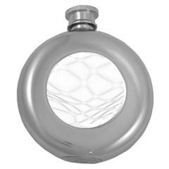 Line Stone Grey Circle Round Hip Flask (5 Oz) by Alisyart