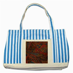 Random Inspiration Striped Blue Tote Bag by Alisyart