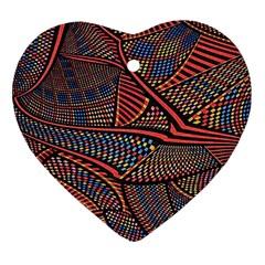 Random Inspiration Heart Ornament (two Sides) by Alisyart