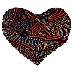 Random Inspiration Large 19  Premium Flano Heart Shape Cushions by Alisyart
