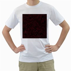 Random Pink Black Red Men s T Shirt (white) (two Sided) by Alisyart