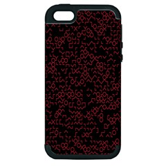 Random Pink Black Red Apple Iphone 5 Hardshell Case (pc+silicone) by Alisyart