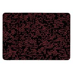 Random Pink Black Red Samsung Galaxy Tab 8 9  P7300 Flip Case by Alisyart