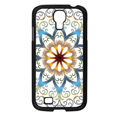 Prismatic Flower Floral Star Gold Green Purple Orange Samsung Galaxy S4 I9500/ I9505 Case (black) by Alisyart