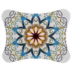 Prismatic Flower Floral Star Gold Green Purple Orange Jigsaw Puzzle Photo Stand (bow) by Alisyart