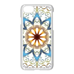 Prismatic Flower Floral Star Gold Green Purple Orange Apple Iphone 7 Seamless Case (white) by Alisyart