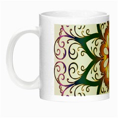 Prismatic Flower Floral Star Gold Green Purple Night Luminous Mugs by Alisyart