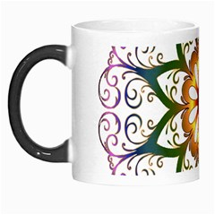 Prismatic Flower Floral Star Gold Green Purple Morph Mugs by Alisyart
