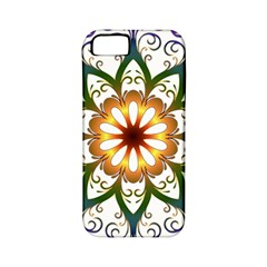 Prismatic Flower Floral Star Gold Green Purple Apple Iphone 5 Classic Hardshell Case (pc+silicone) by Alisyart