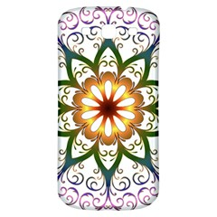 Prismatic Flower Floral Star Gold Green Purple Samsung Galaxy S3 S Iii Classic Hardshell Back Case by Alisyart