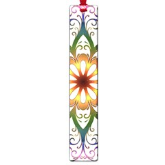 Prismatic Flower Floral Star Gold Green Purple Large Book Marks by Alisyart