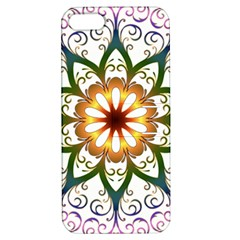 Prismatic Flower Floral Star Gold Green Purple Apple Iphone 5 Hardshell Case With Stand by Alisyart