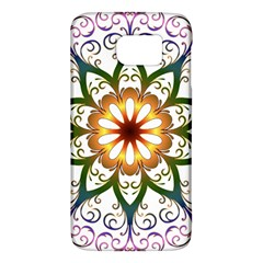 Prismatic Flower Floral Star Gold Green Purple Galaxy S6 by Alisyart