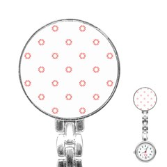 Scrapbook Paper Flower Stainless Steel Nurses Watch by Alisyart