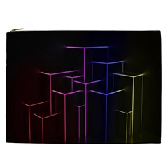 Space Light Lines Shapes Neon Green Purple Pink Cosmetic Bag (xxl)  by Alisyart