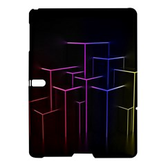 Space Light Lines Shapes Neon Green Purple Pink Samsung Galaxy Tab S (10 5 ) Hardshell Case  by Alisyart