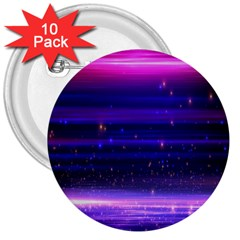 Space Planet Pink Blue Purple 3  Buttons (10 pack)
